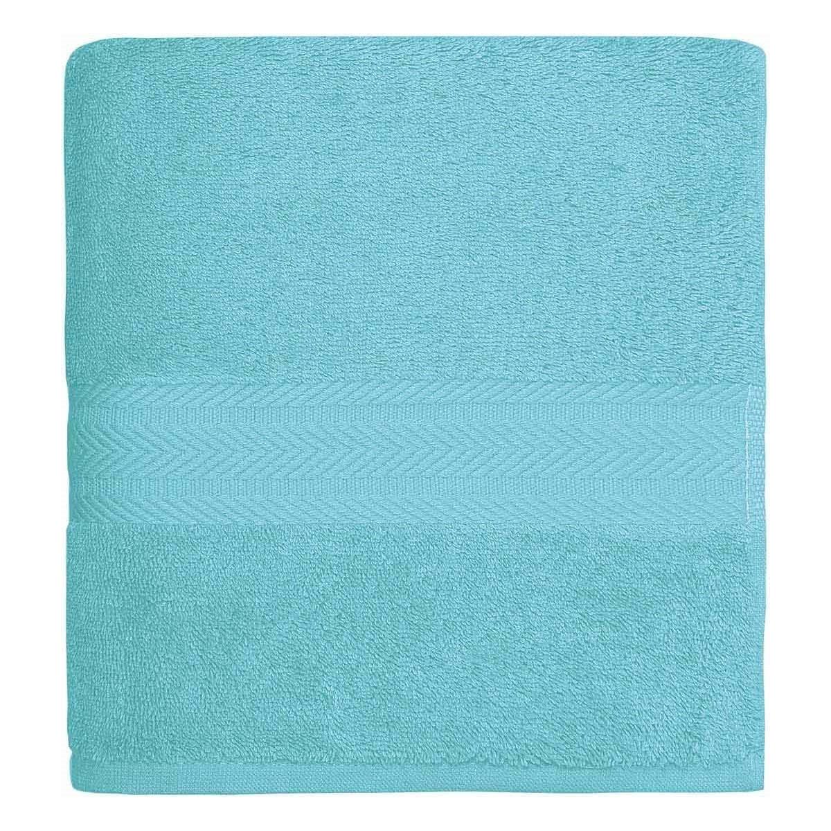 Drap de bain 550gr/m²  Bleu Turquoise 70x140 cm