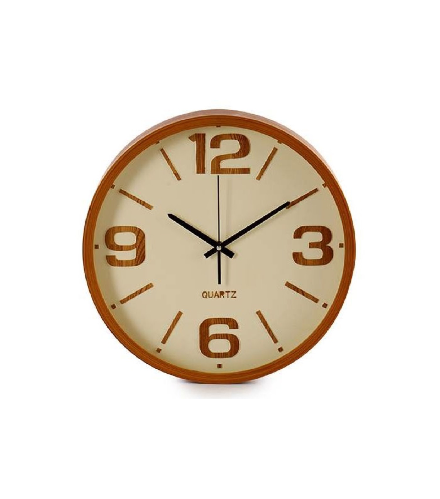 Horloge murale ronde bois D40