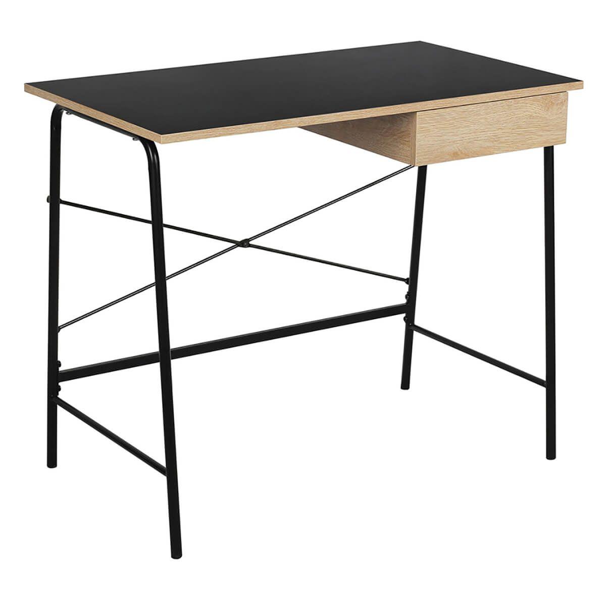 Bureau  avec tiroir et piétement métallique