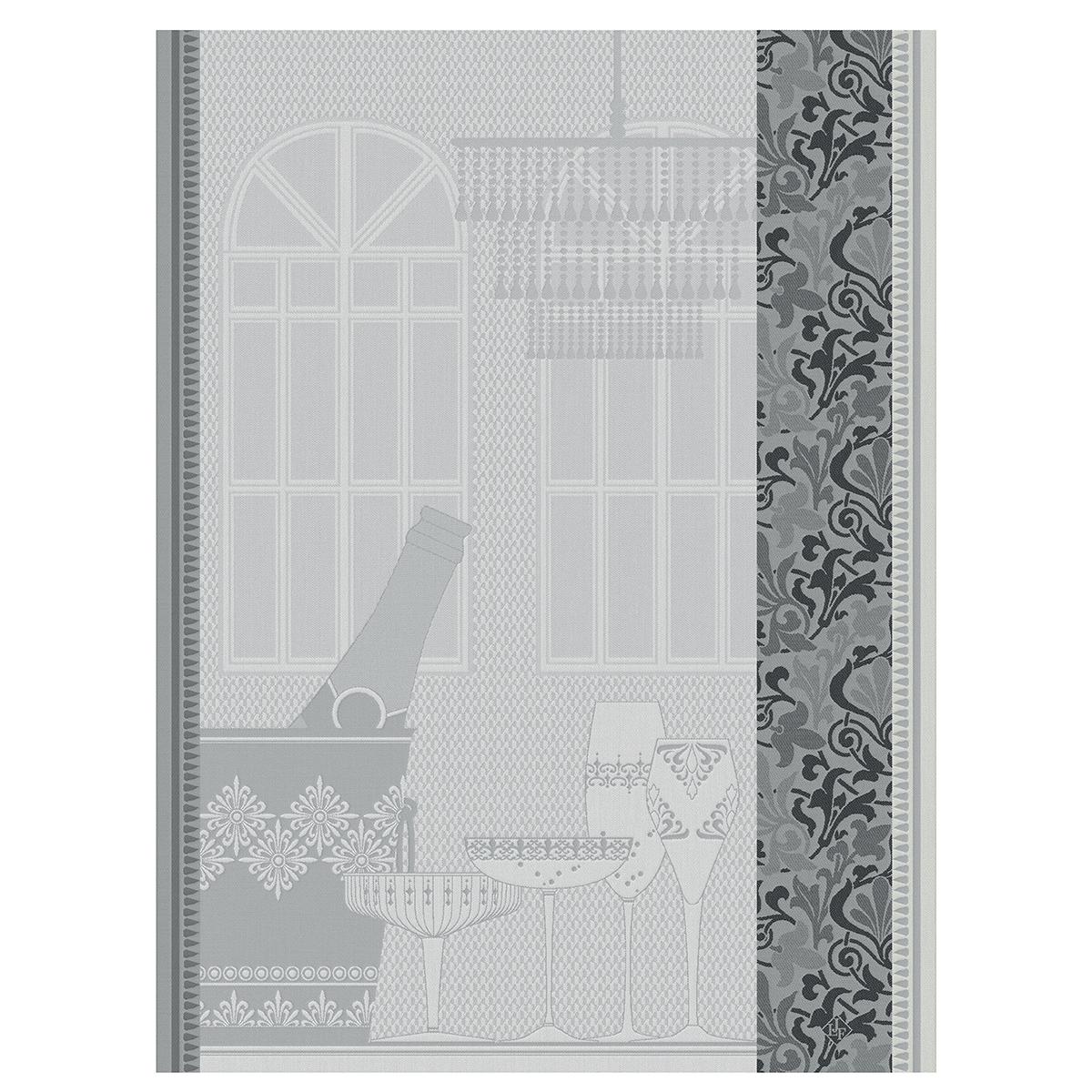 Torchon en coton gris 80x60