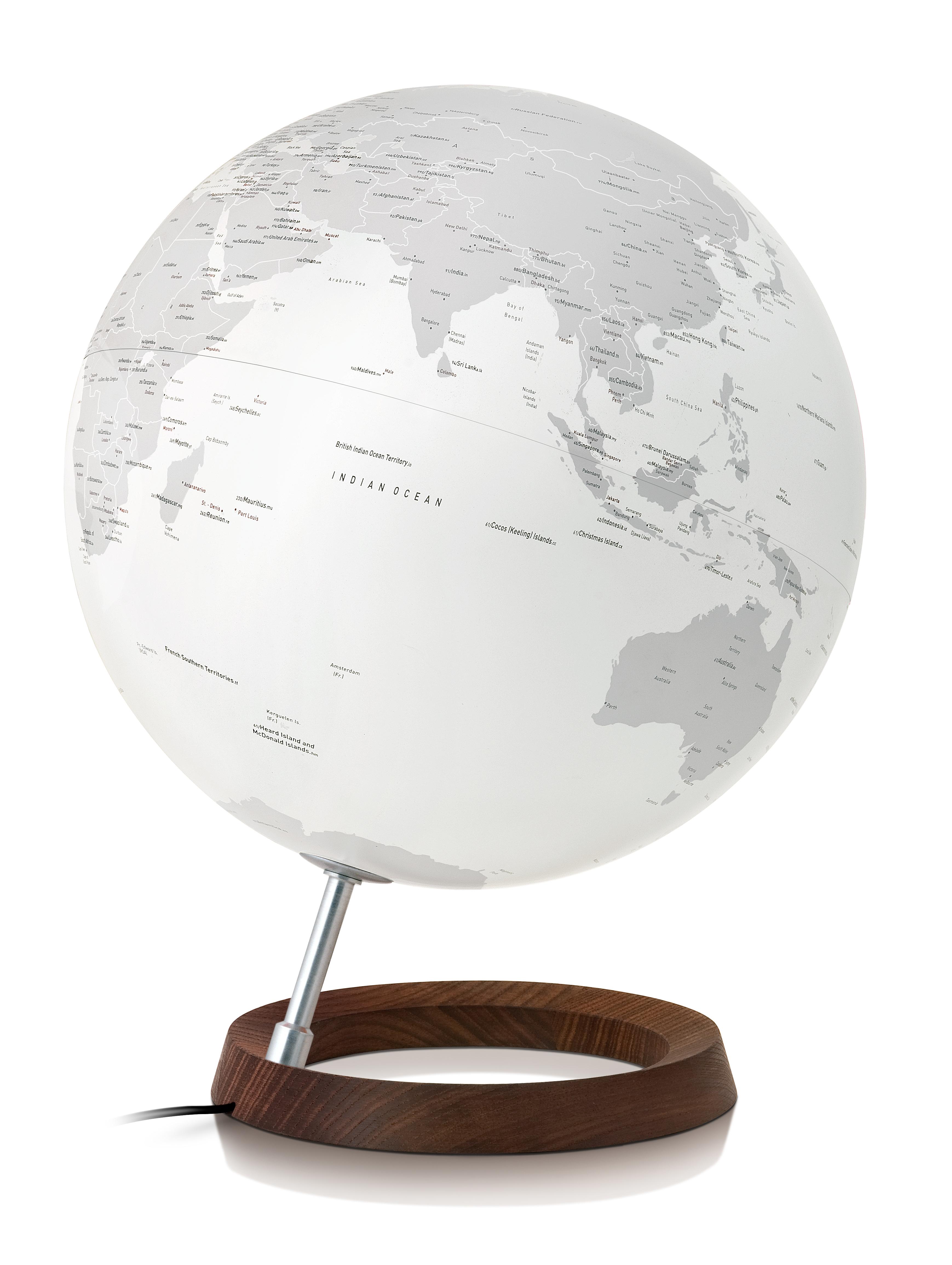 FC REFLETION - Globe terrestre de design, lumineux, textes en anglais
