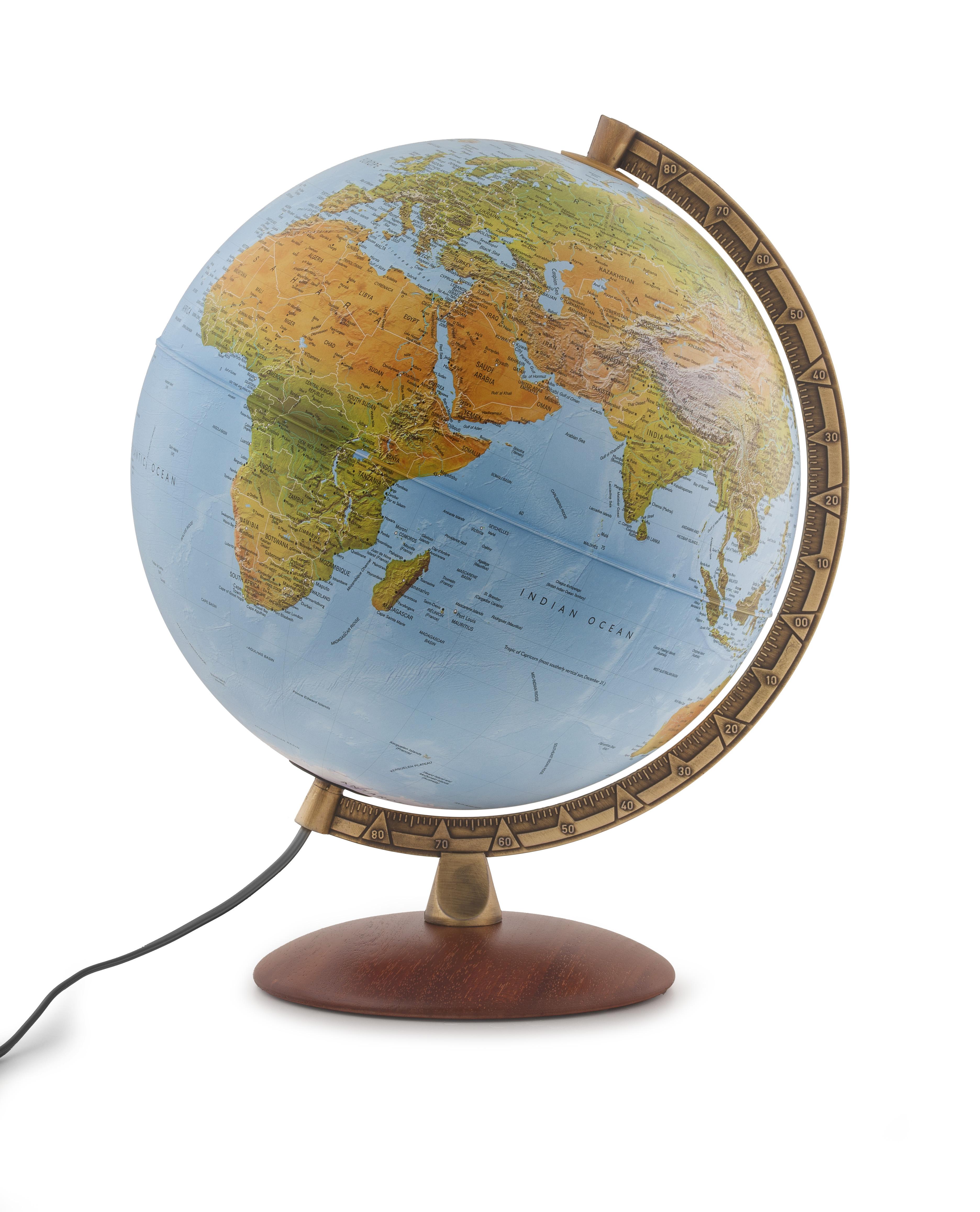 ASTRA - Globe terrestre, politique, lumineux, textes en français