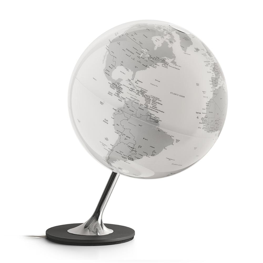 ANGLO CHROME - Globe terrestre design, lumineux, textes en anglais