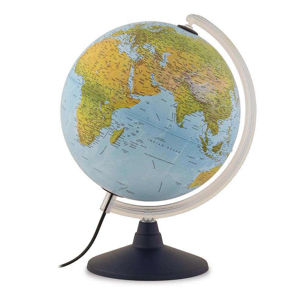 ELITE 30 - Globe terrestre, politique, lumineux, textes en français