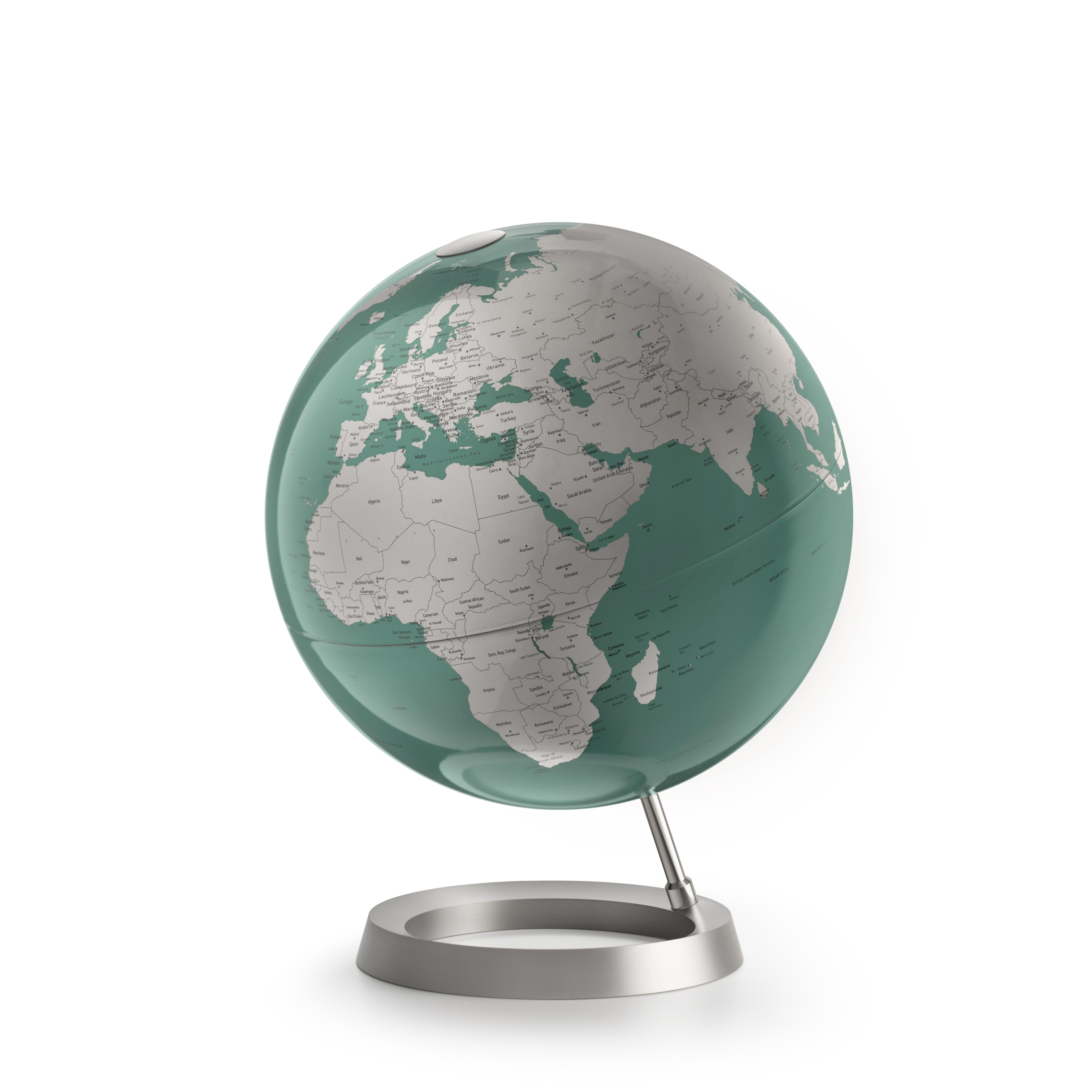 VISION MINT - Globe terrestre de design, textes en anglais