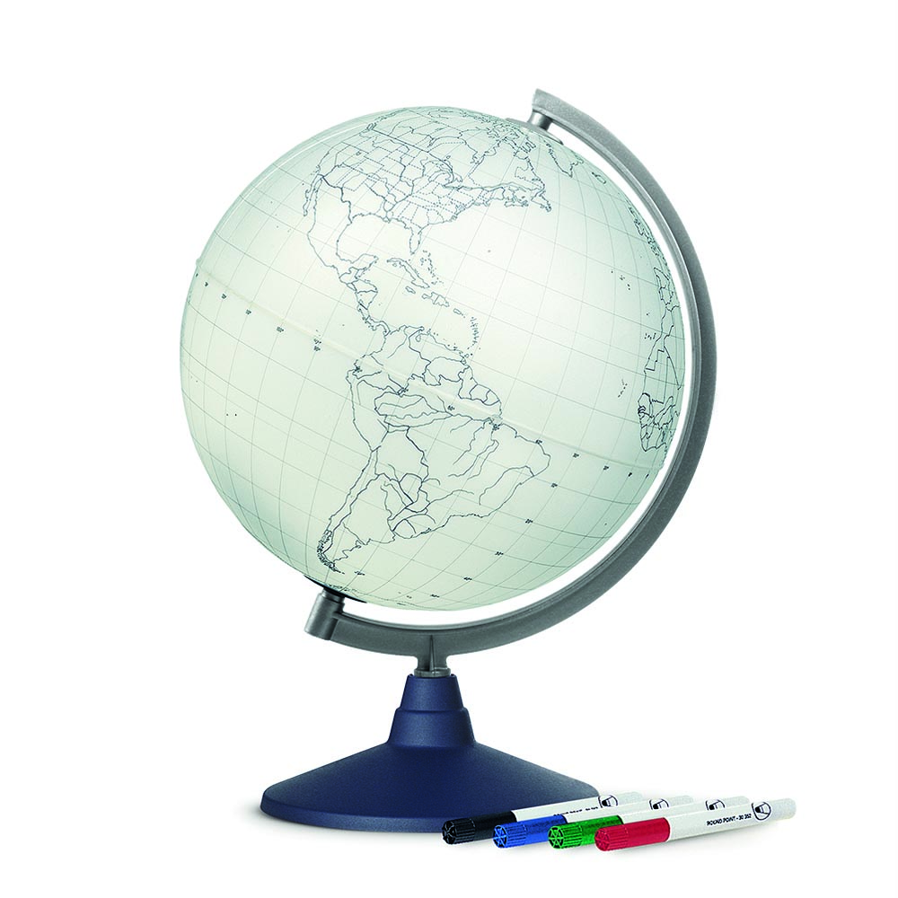BLANK - Globe terrestre, cartographie muette