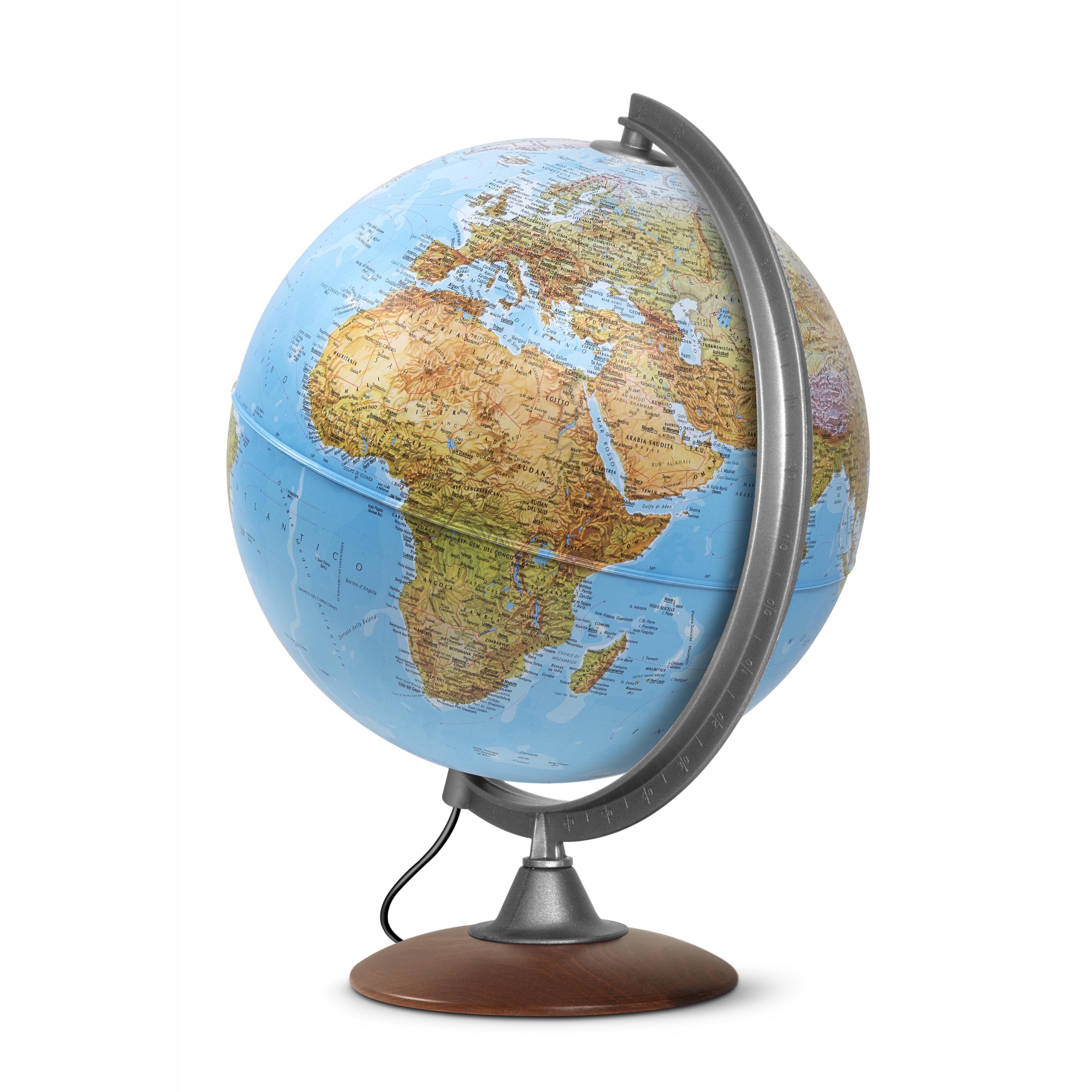ATLANTIS 30 - Globe terrestre, politique, lumineux, textes en français