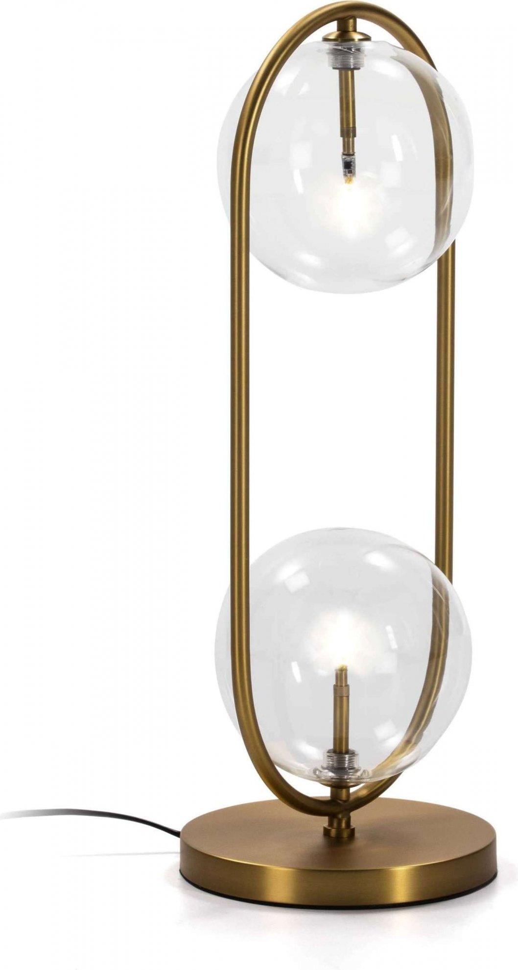 maison du monde Lampe de table design couleur dorée