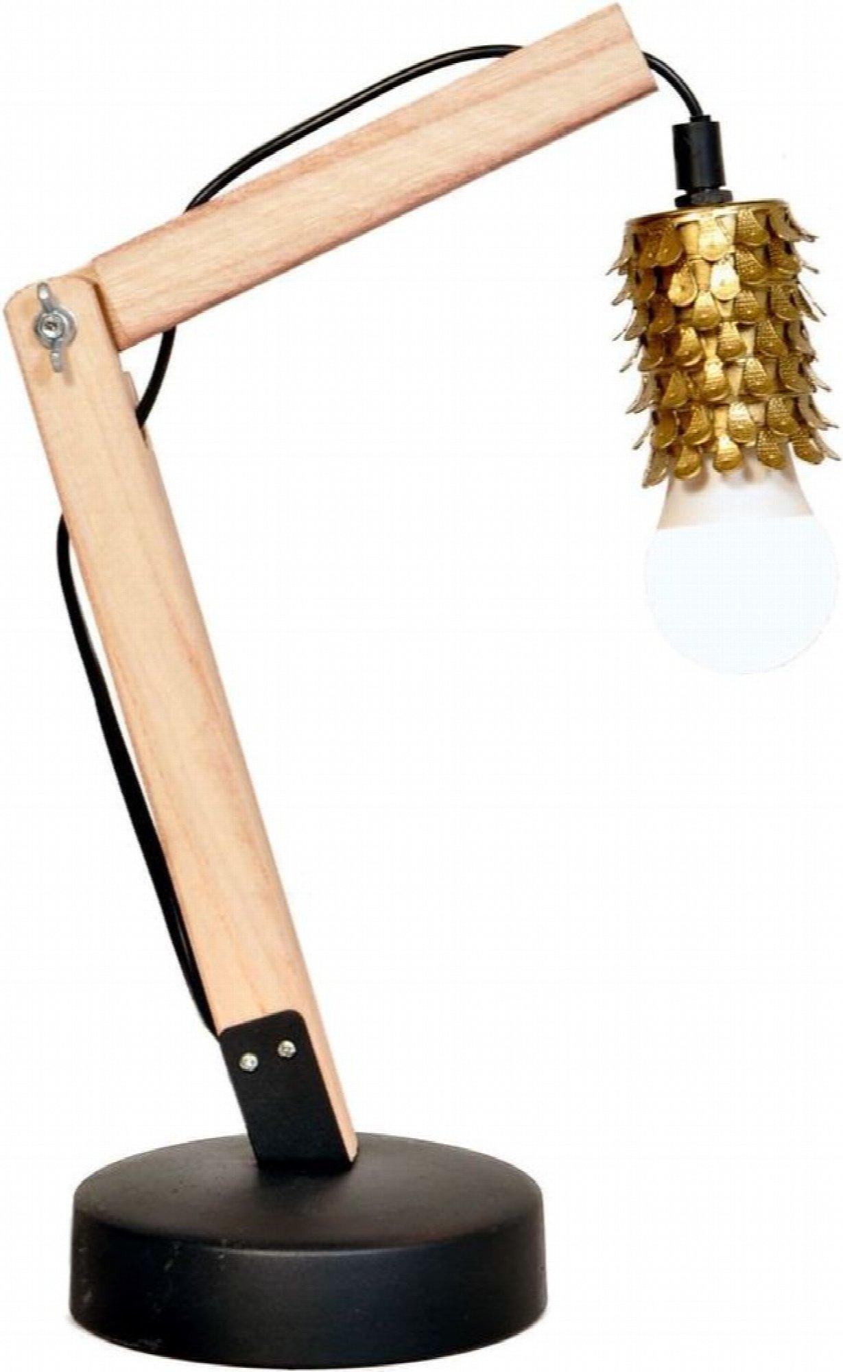 Lampe de bureau design couleur dorée