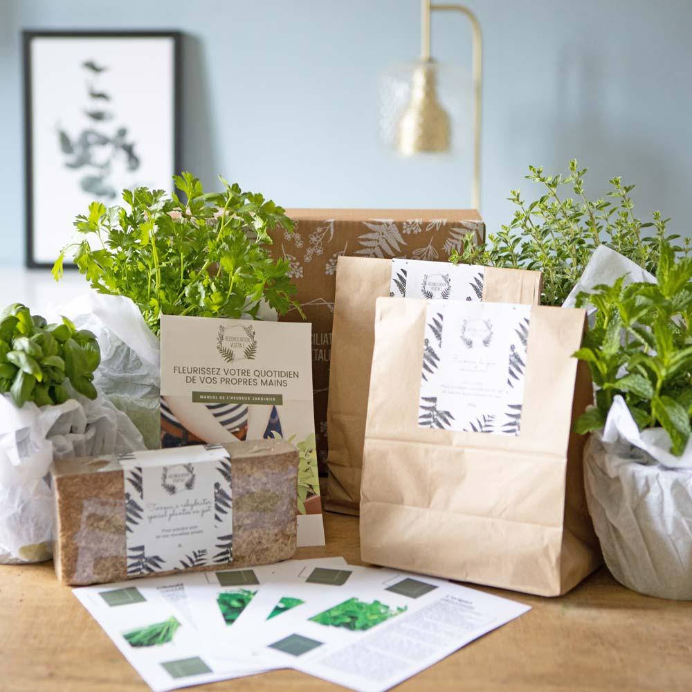 Kit de jardinage spécial plantes aromatiques