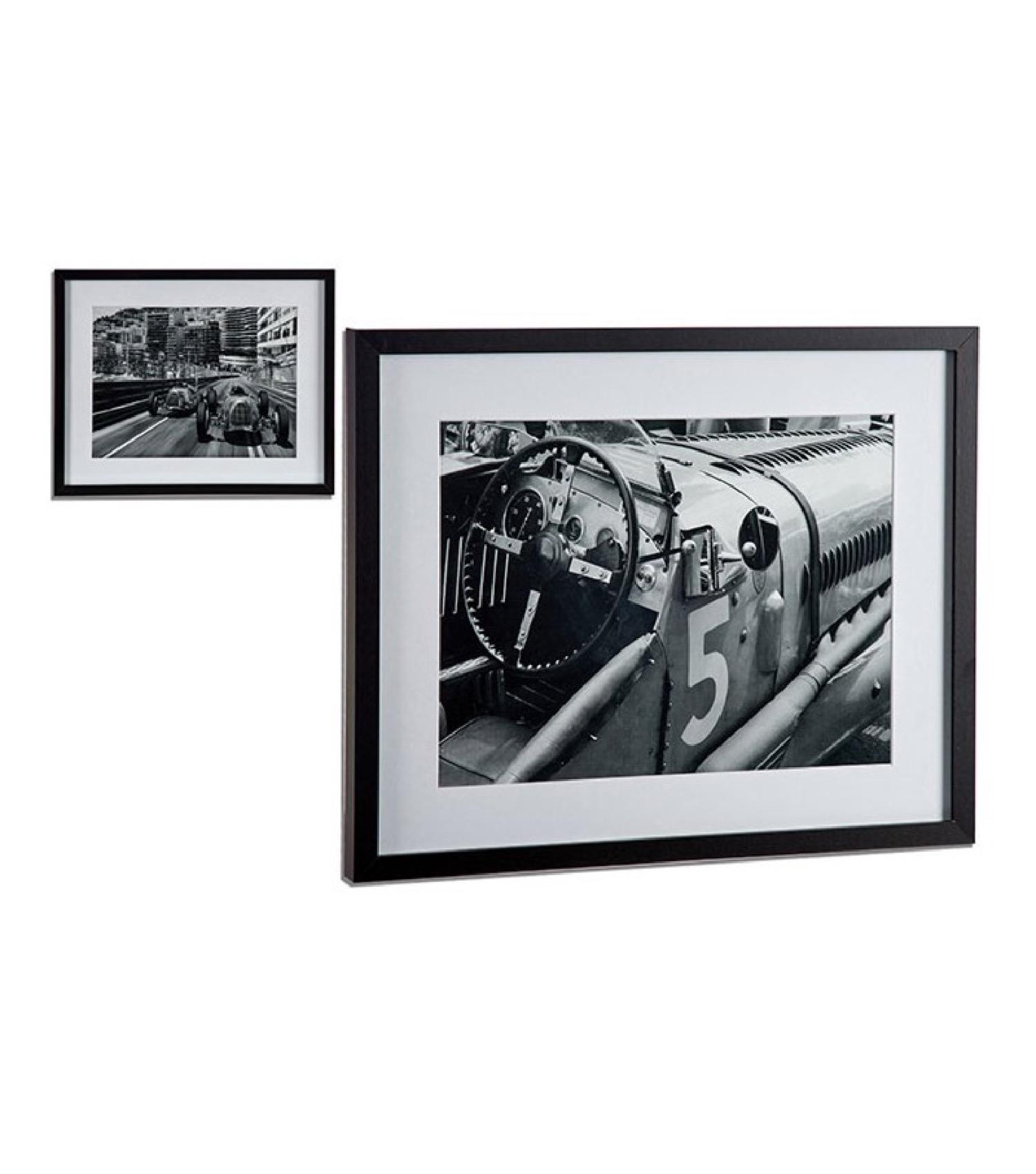 Set de 2 tableaux décoratifs photo noir et blanc