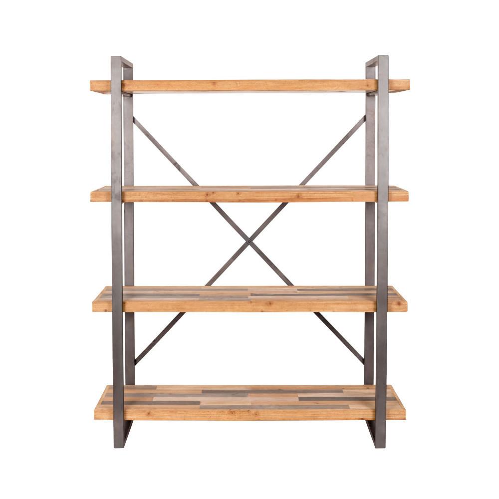 Etagère design en métal et bois