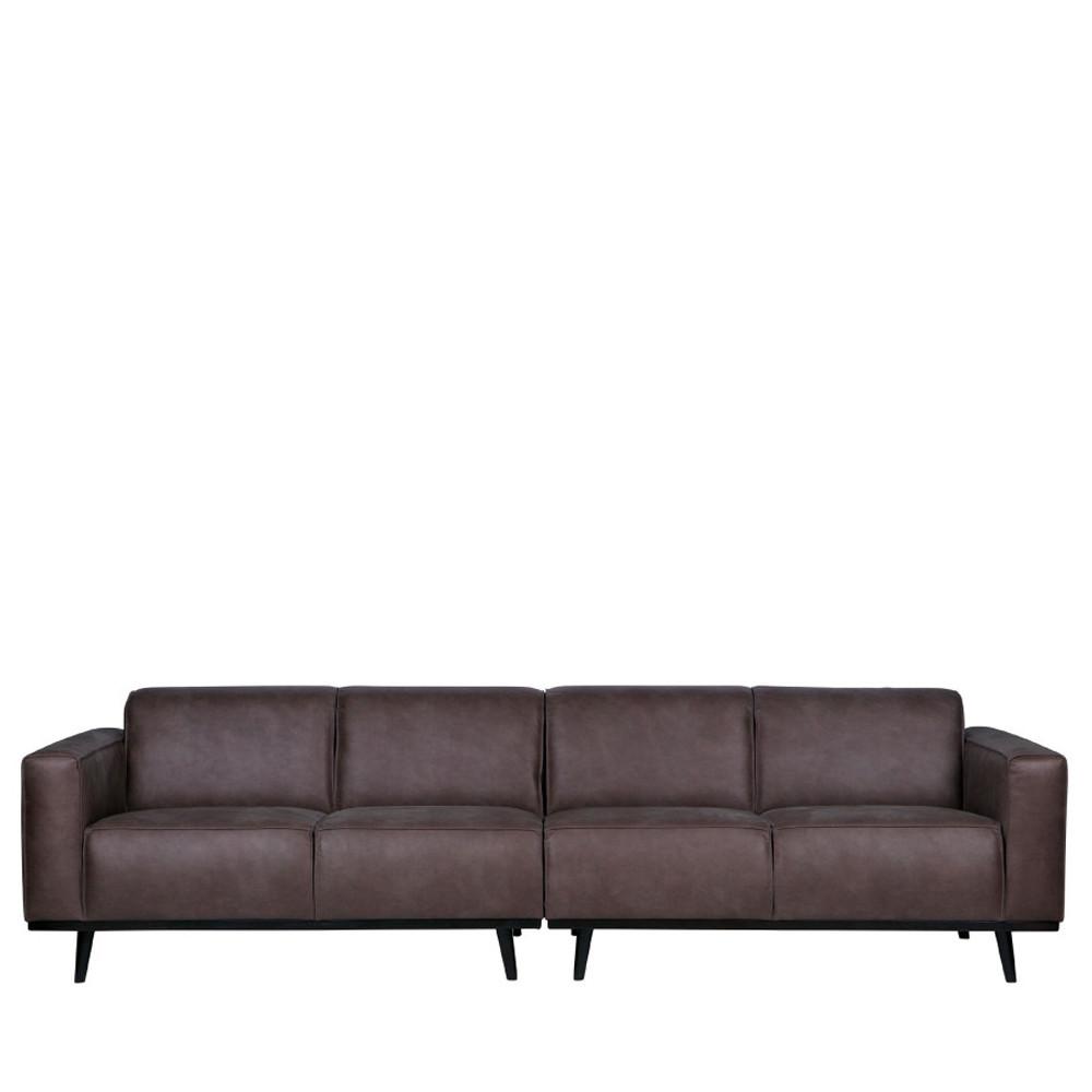 Canapé 4 places en simili gris