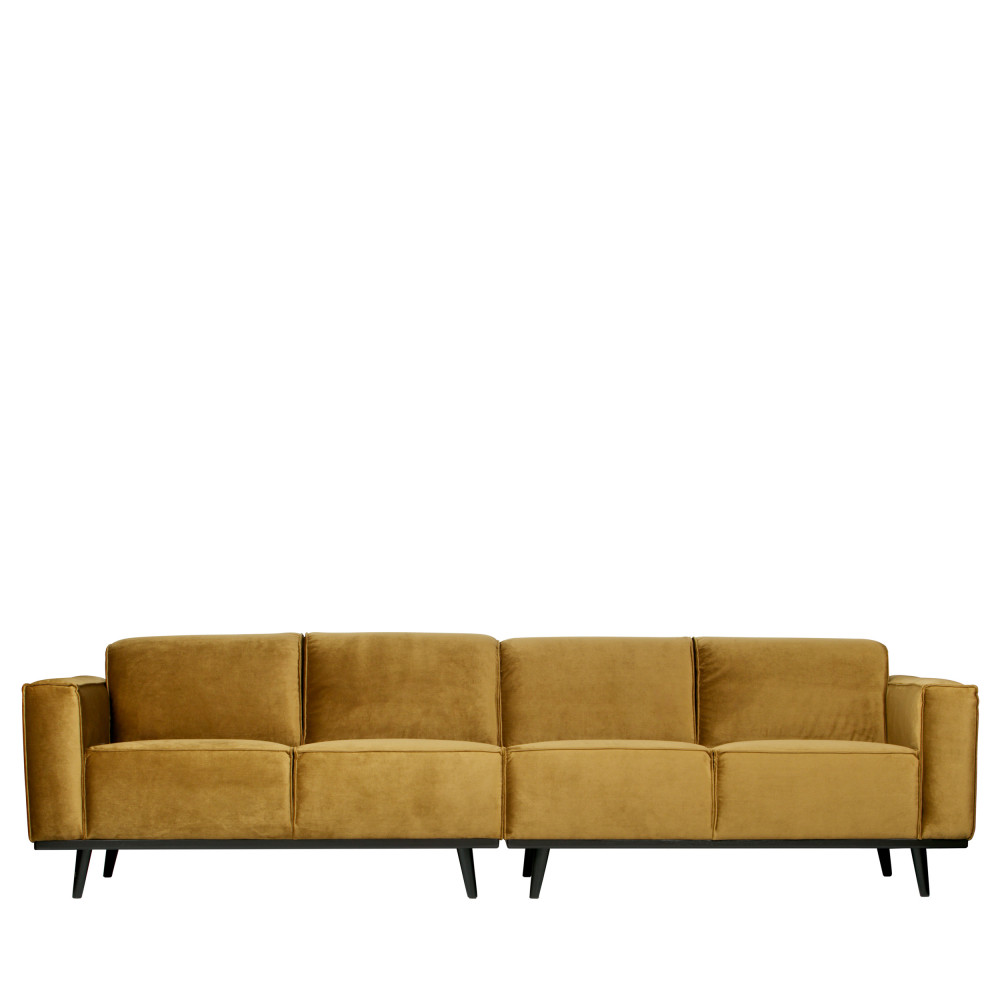 Canapé 4 places en velours bronze
