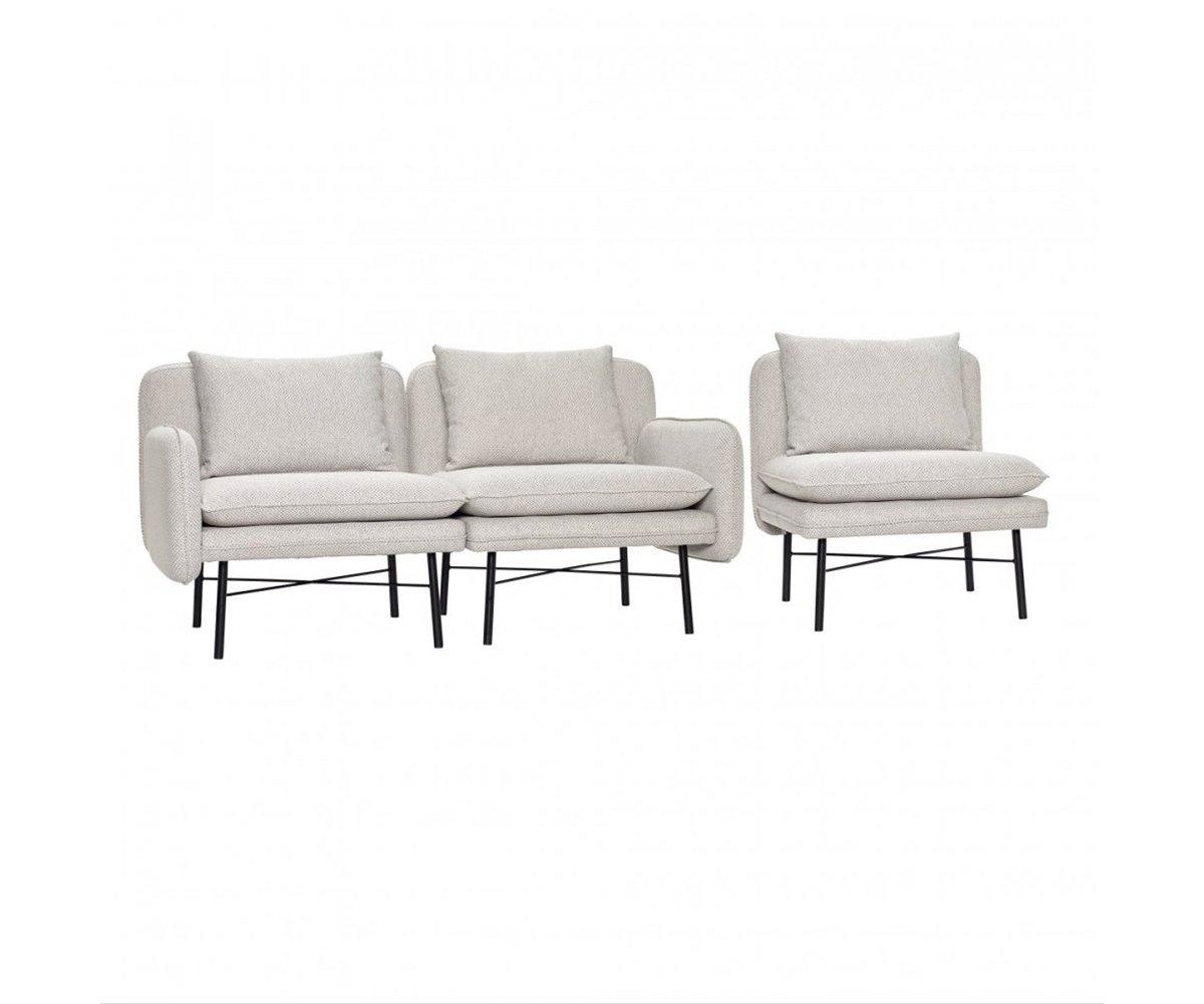Canapé ensemble 3 fauteuils design - Hubsch