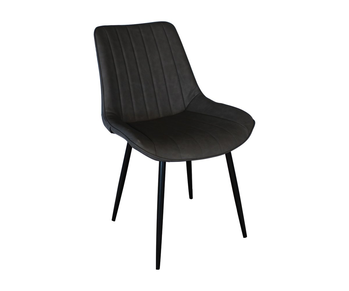 Chaise design rembourrée Gris