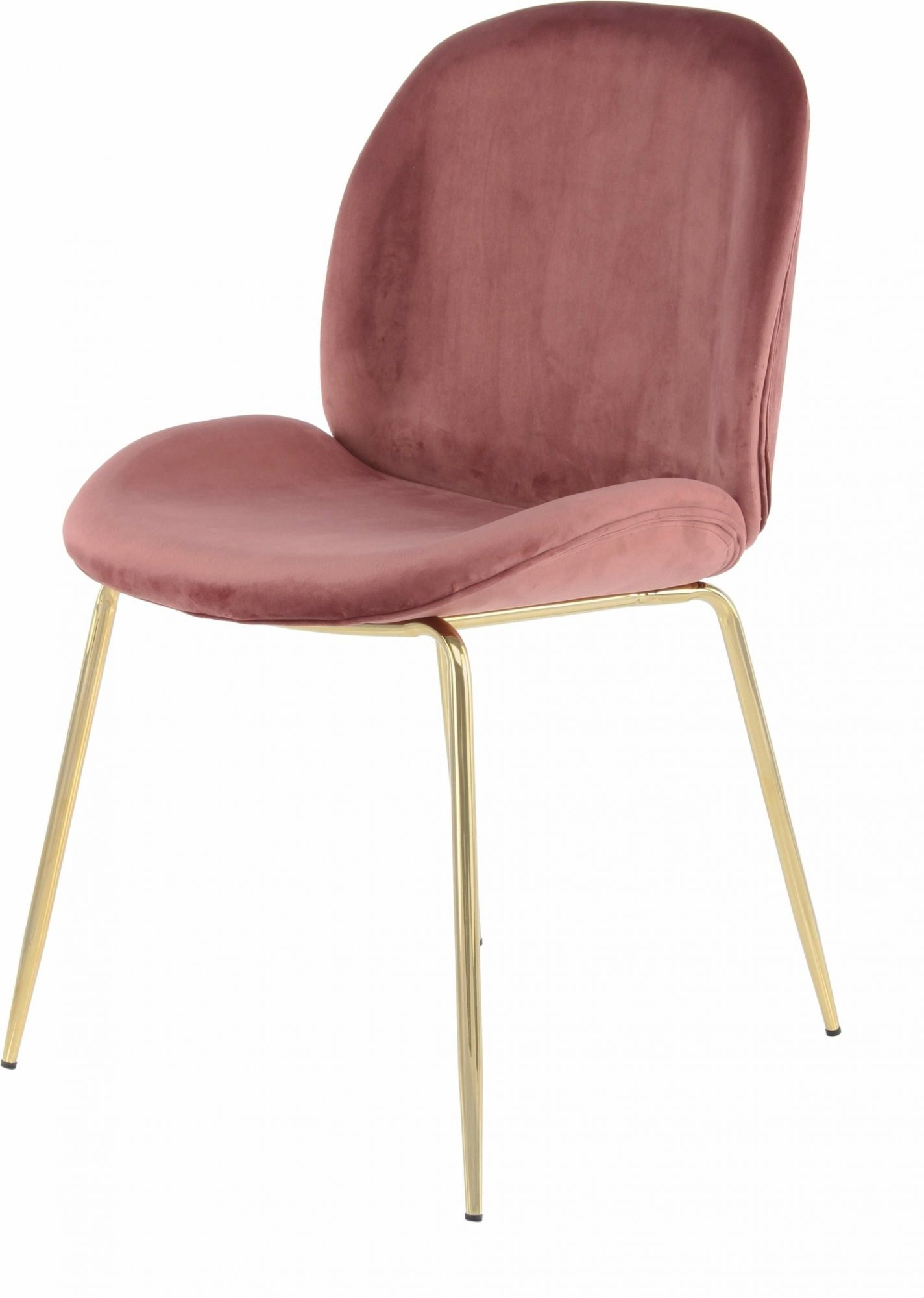 maison du monde Chaise rembourrée assise rose pieds doré (lot de 2)