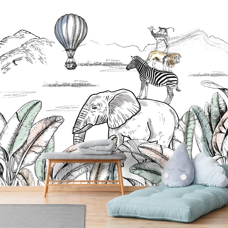 Papier peint panoramique intissé 336x270cm