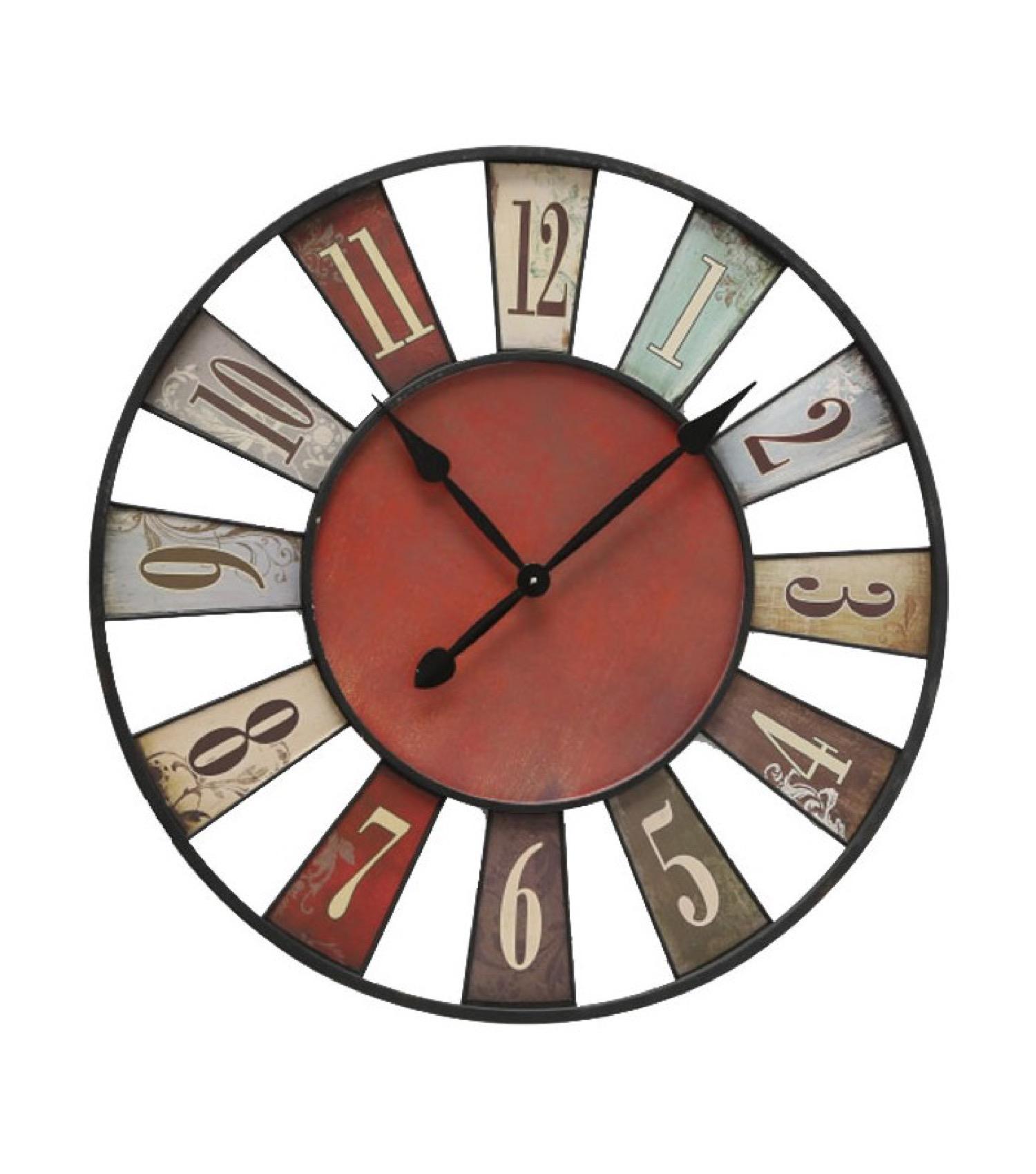 Horloge murale multicolore D74