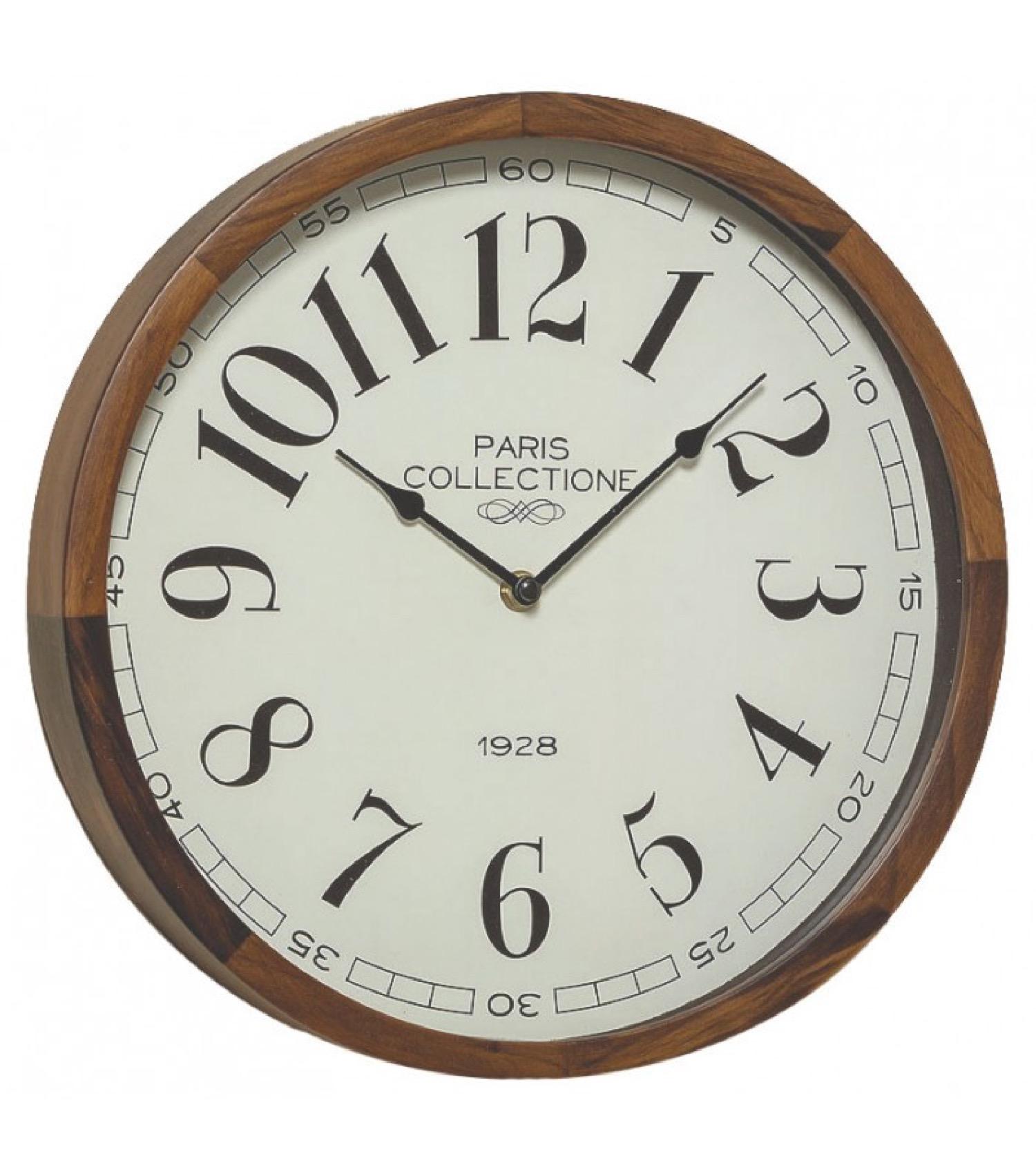 Horloge murale ronde bois D32