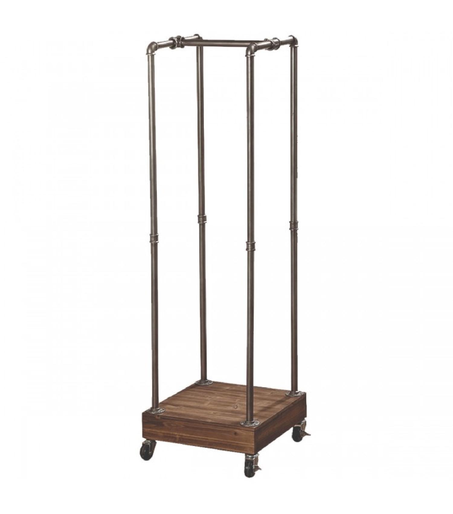 Porte vêtements bois et métal style industriel H153