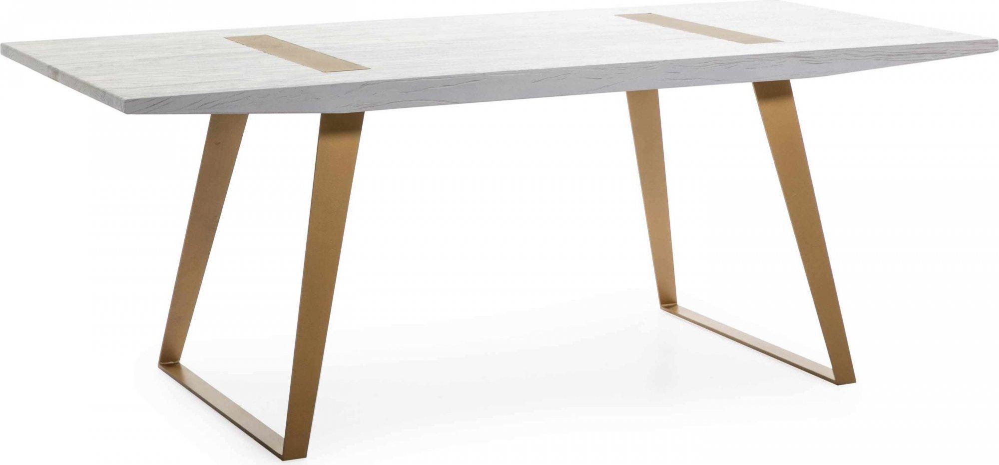 Table a diner en bois cérusé blanc 6 places l200cm