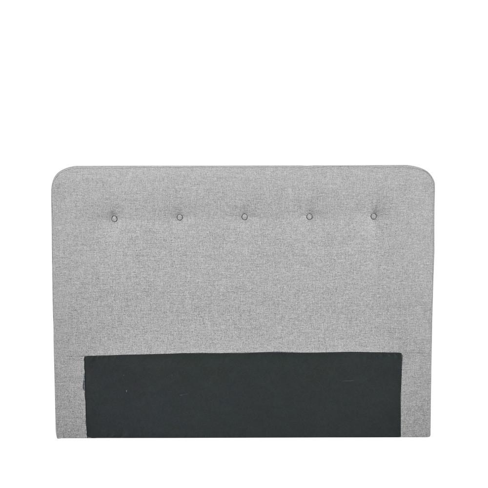 Tête de lit en tissu 150 cm gris clair