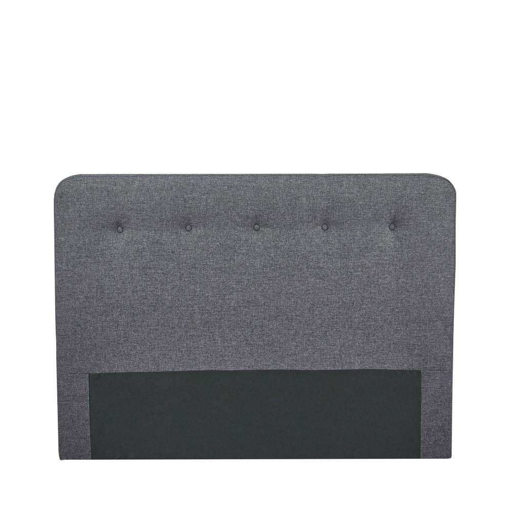 Tête de lit en tissu 150 cm gris anthracite