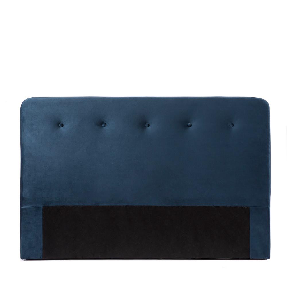 Tête de lit en velours 170 cm bleu marine