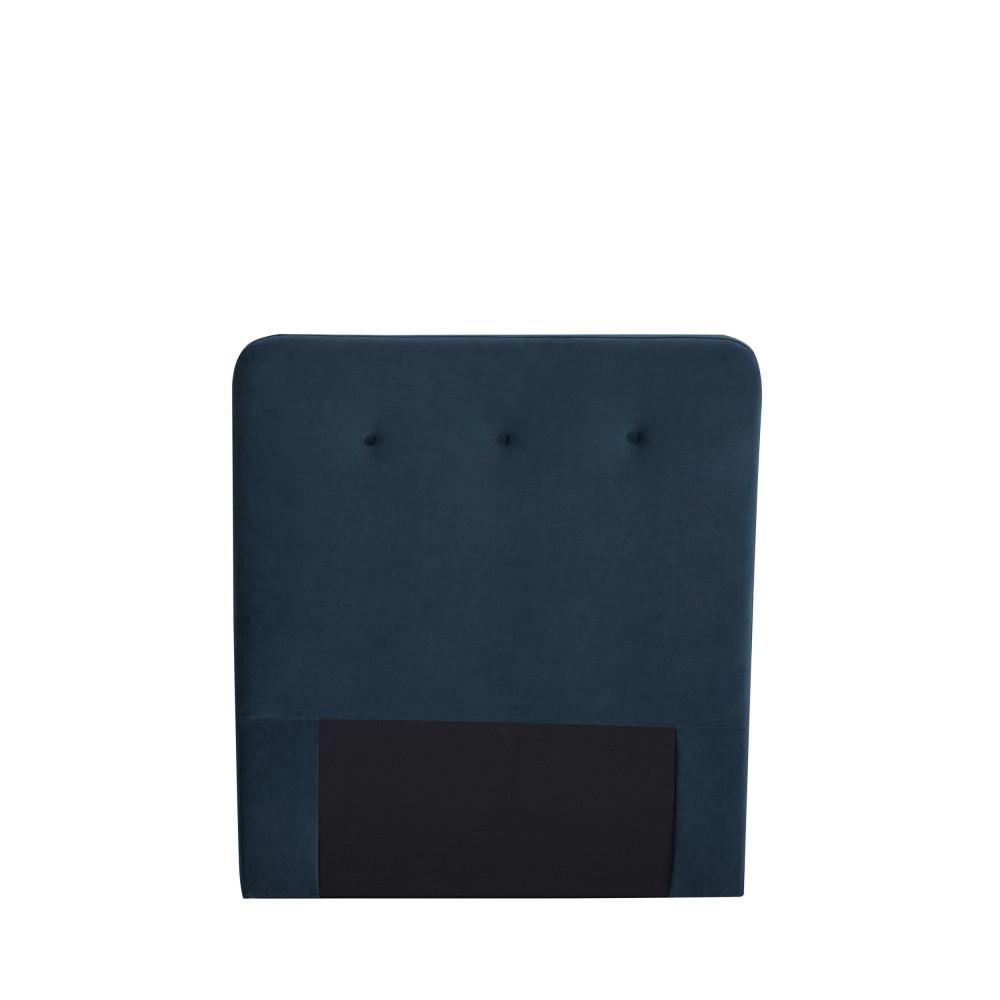 Tête de lit en velours 100 cm bleu marine
