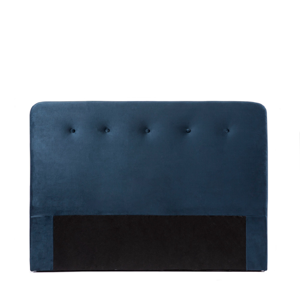 Tête de lit en velours 150 cm bleu marine