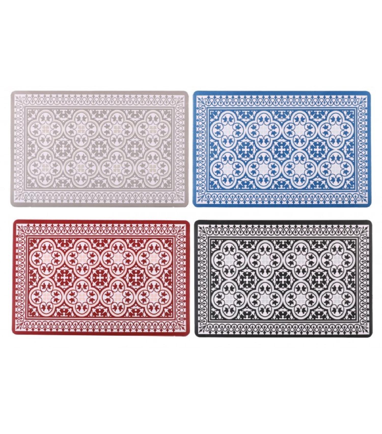Lot de 12 sets de table vinyle motif mosaïque
