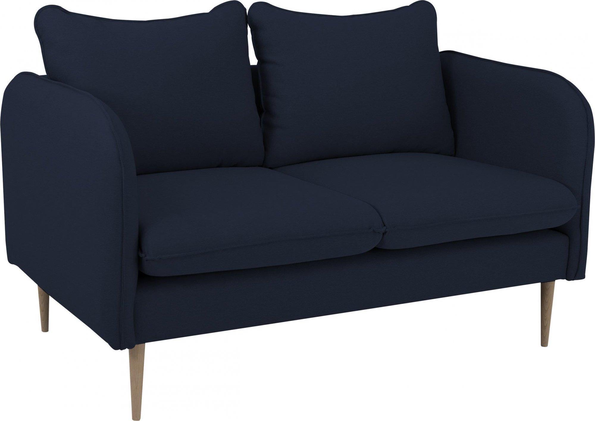 Canapé tissu 2 places bleu encre h45cm