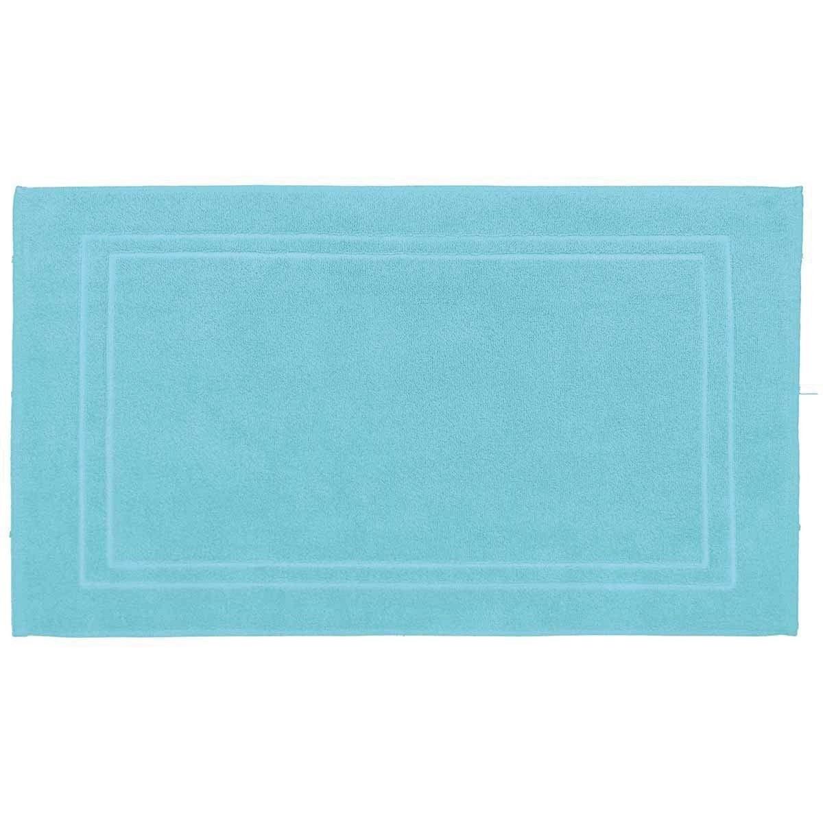 LUXURY - Tapis de bain 900gr/m²  Bleu Turquoise 50x80 cm