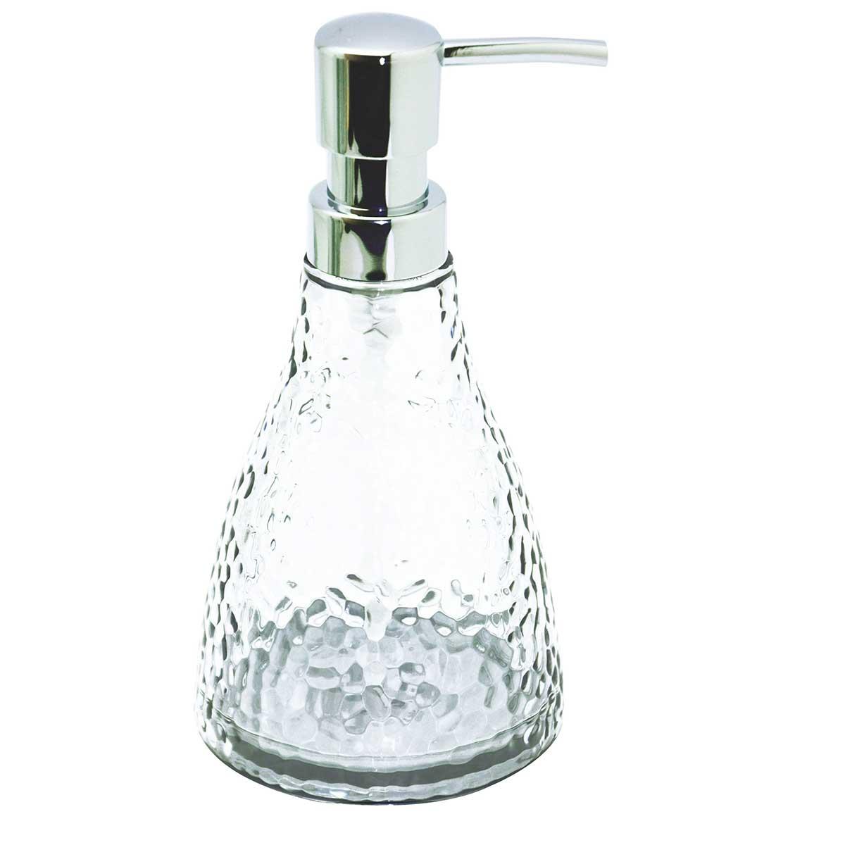 Distributeur de savon effet craquelé transparent