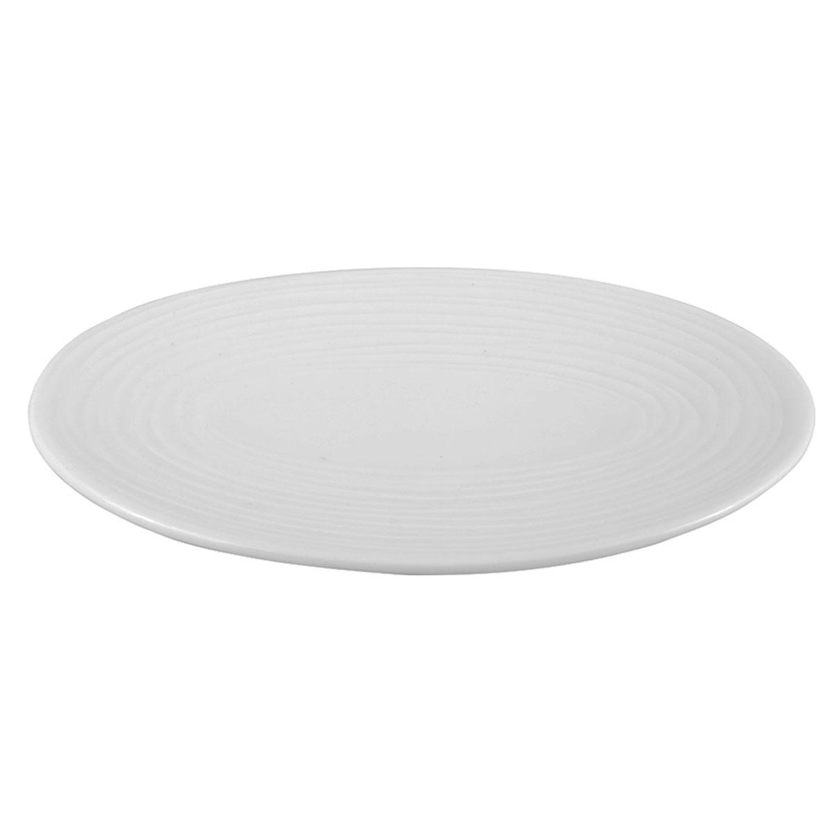 Porte savon en porcelaine rayée blanc