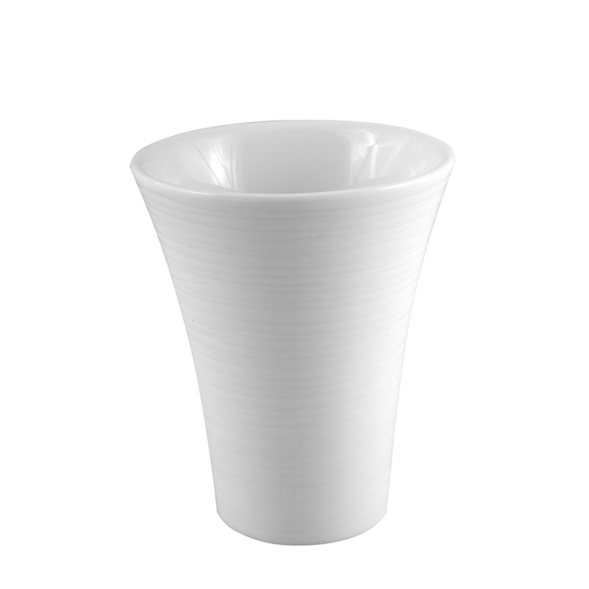 Gobelet en porcelaine rayée blanc