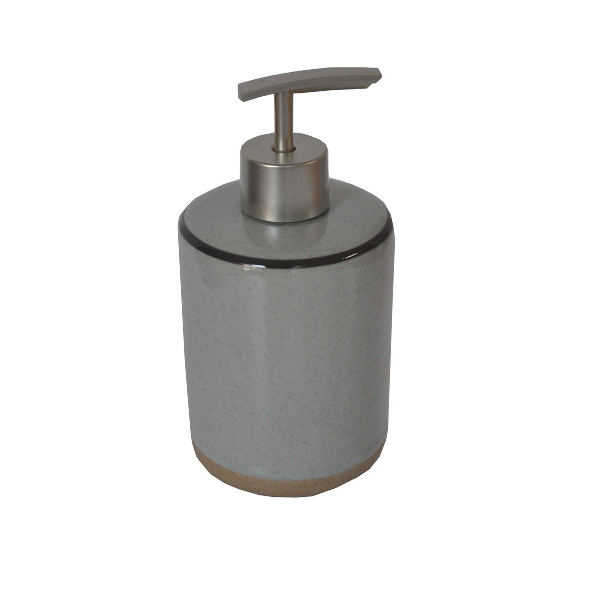 Distributeur de savon bicolore gris gris