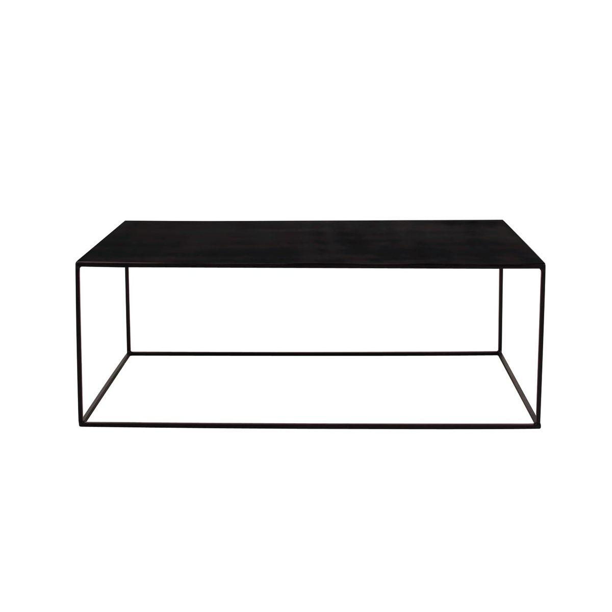 Table basse en métal rectangulaire de 110 cm