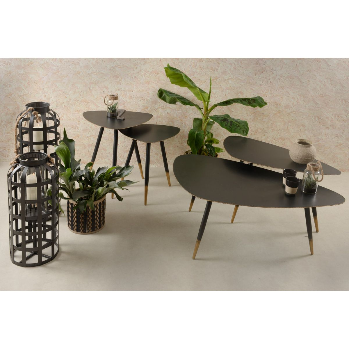 Table basse en métal 100 cm