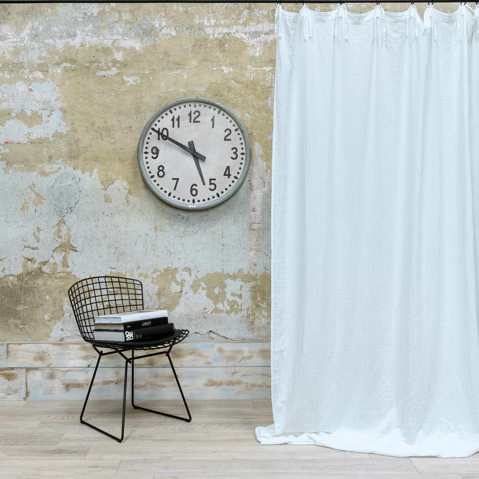 Rideau gaze de coton blanc nouettes 140X270 CM