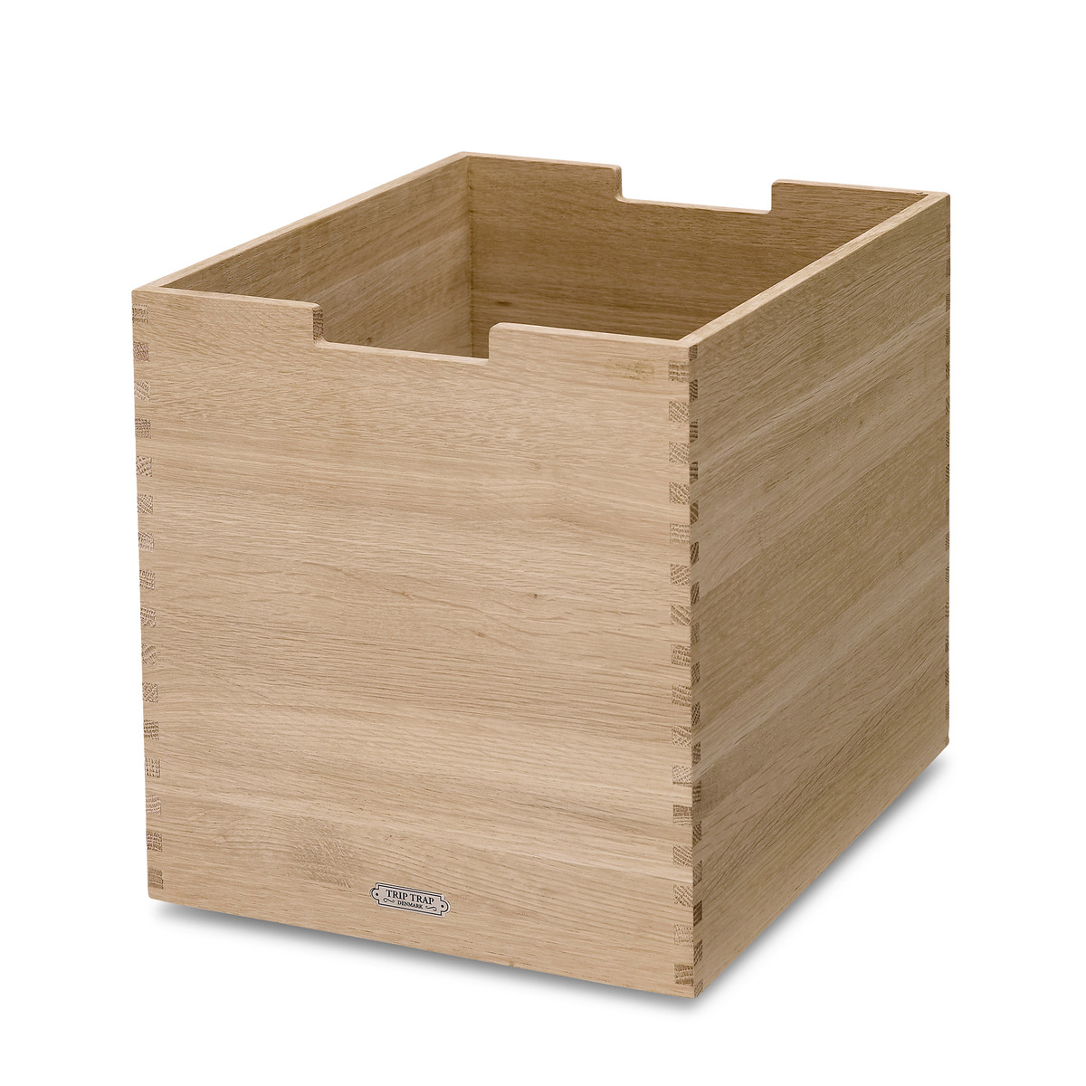 Grande boîte avec roulettes en chêne