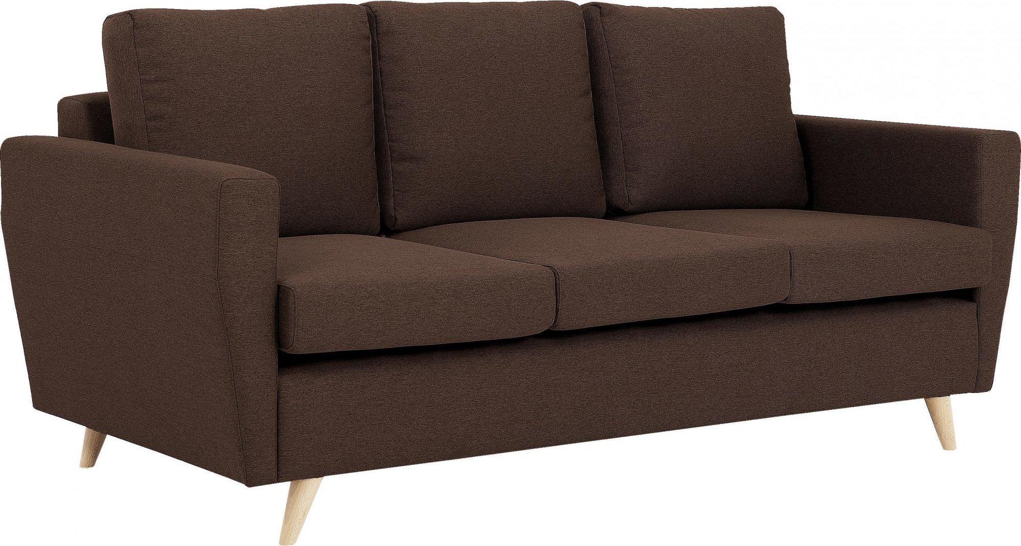 Canapé tissu 3 places marron h45cm