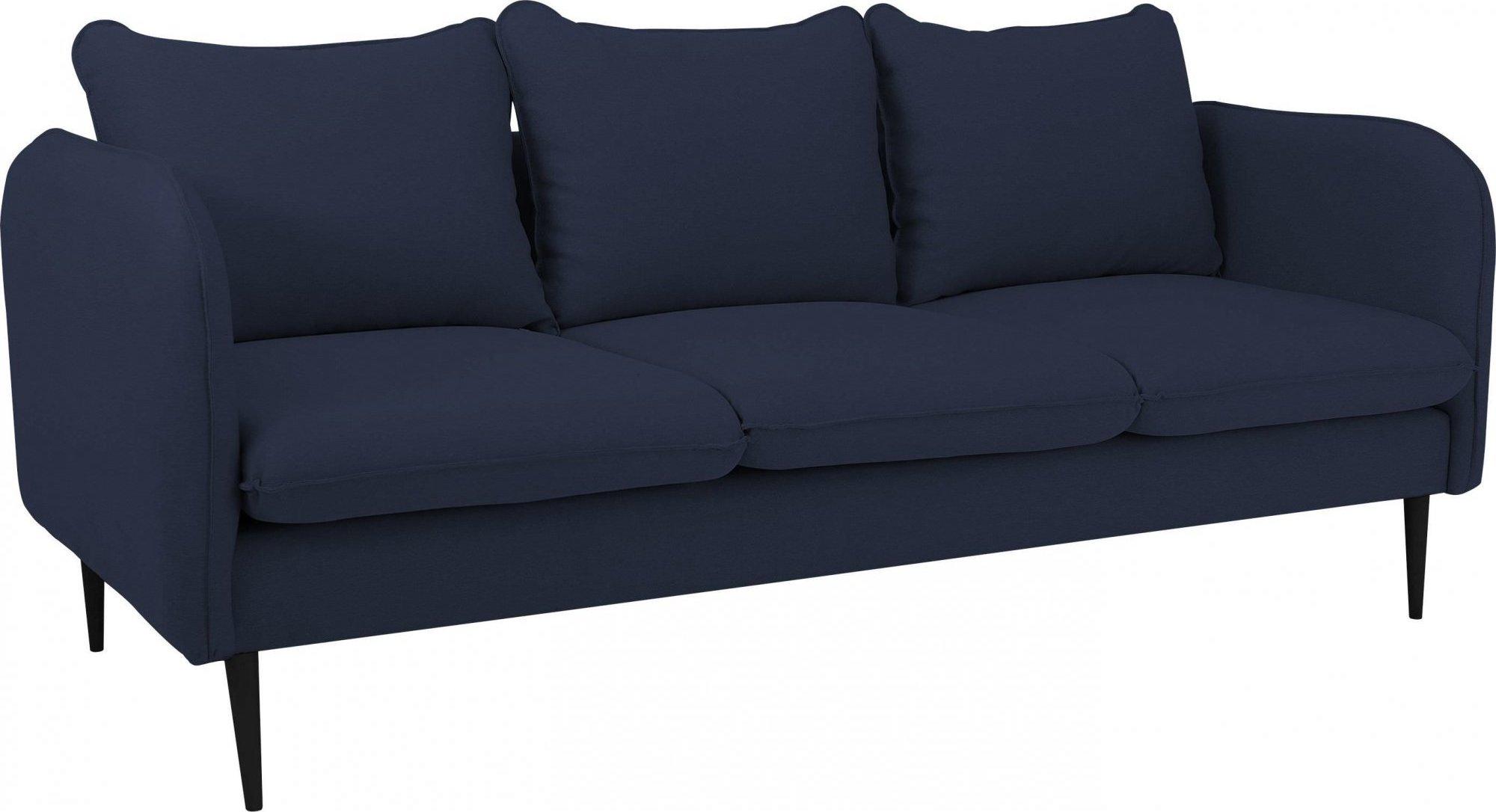 Canapé tissu 3 places bleu encre h45cm