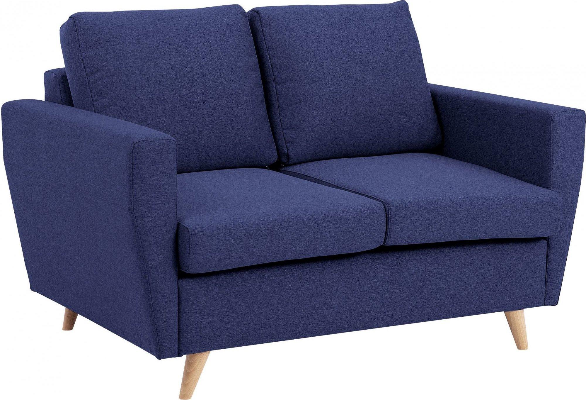 Canapé tissu 2 places bleu h45cm