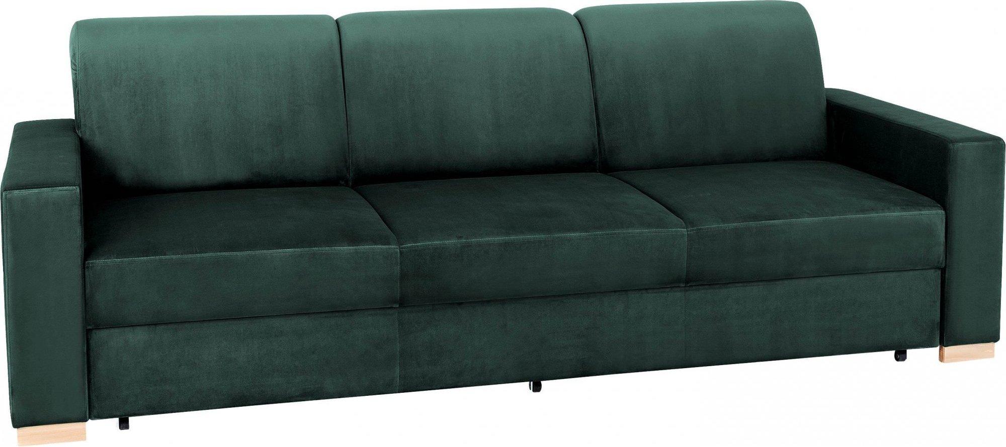 Canapé 3 places tissu vert avocat h40cm