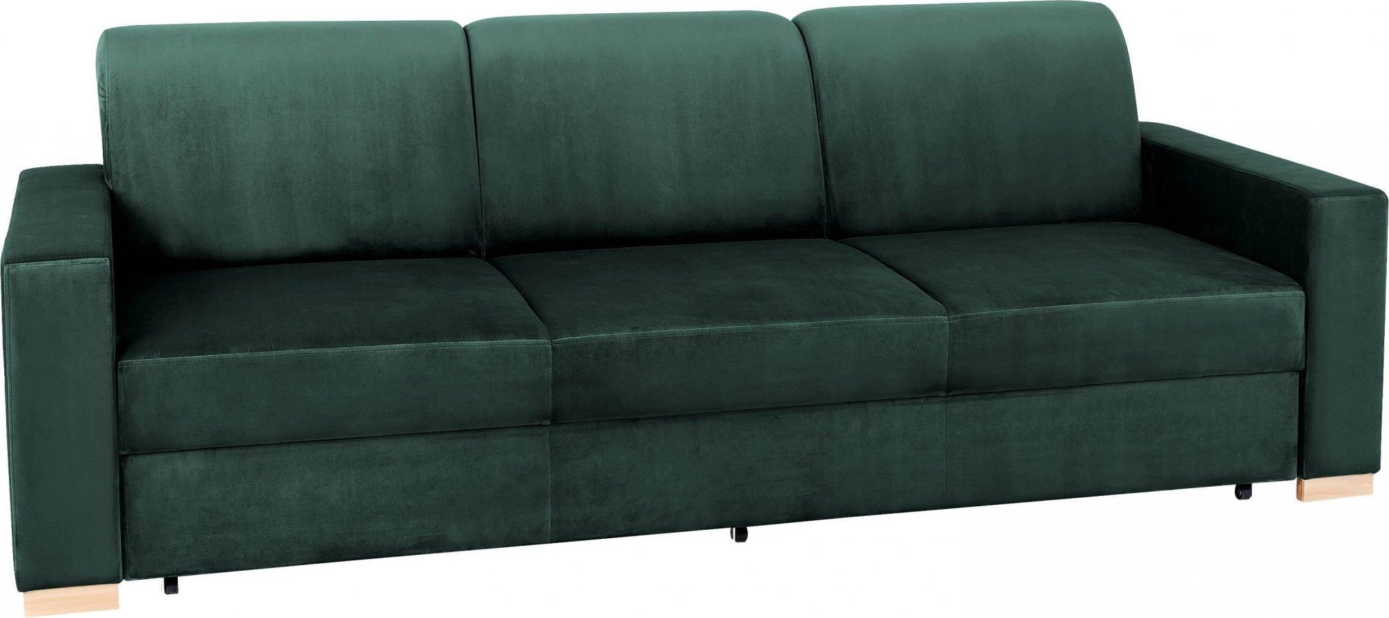 Canapé convertible 3 places tissu vert avocat h40cm