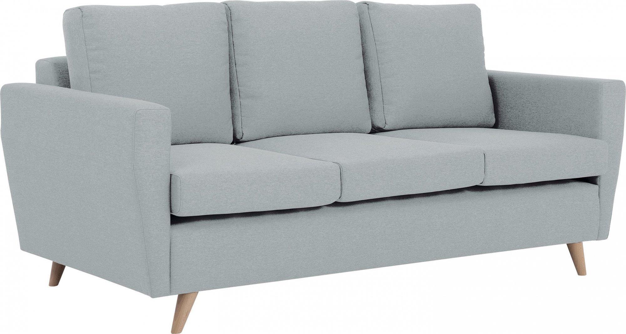 Canapé tissu 3 places gris platine h45cm