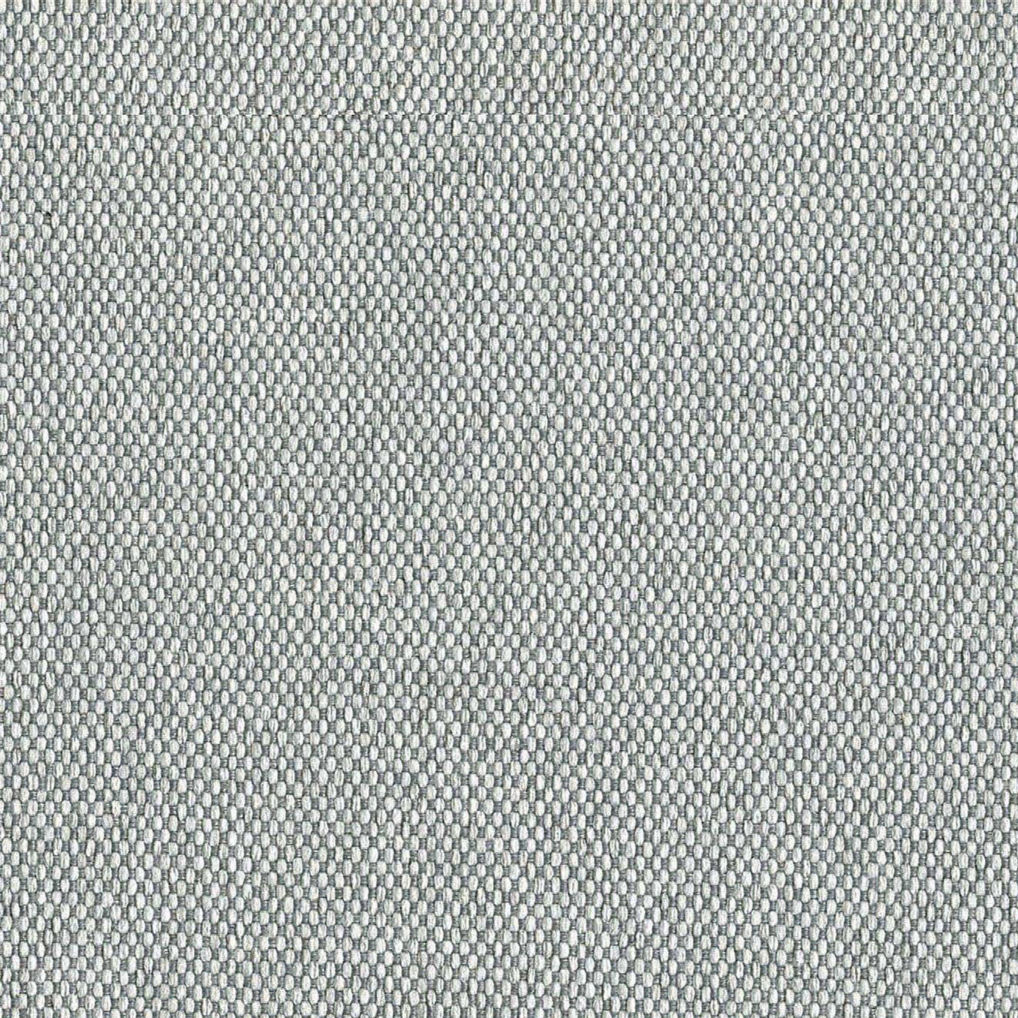 Canapé tissu 2 places gris platine h45cm