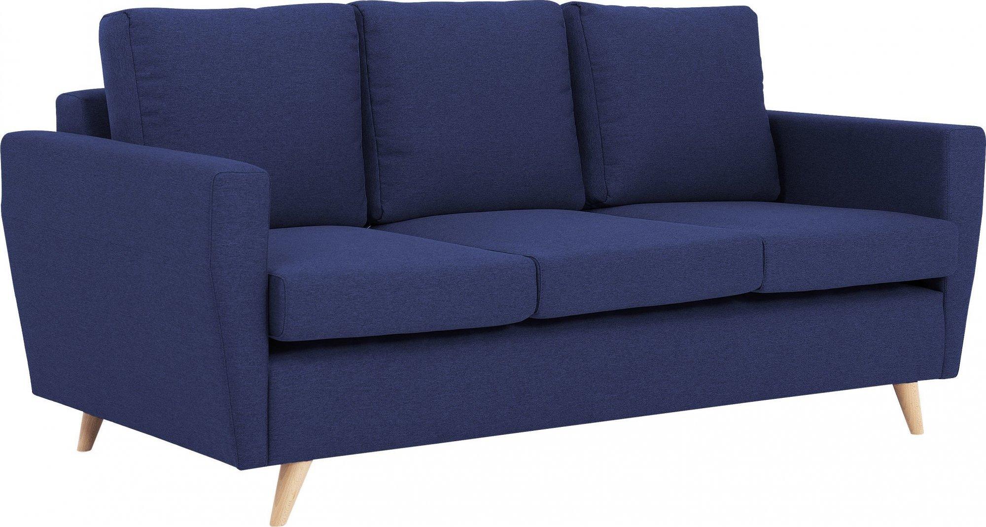 Canapé tissu 3 places bleu h45cm